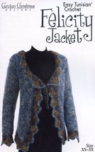 Felicity Jacket Easy Tunisian Gourmet Crochet Pattern - 30 Days To Pay SZ XS-5X - $8.07