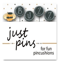 B is for Buzz JP200 set/5 pins for pincushions Just Another Button Co - $13.95