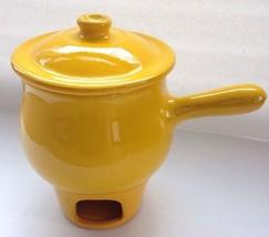 Albisola Coop Stov Yellow Fondue Pot #14 Italy Rosenthal Netter - $79.99