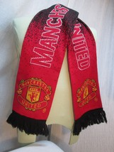 "M175c MANCHESTER UNITED SCARF OFFICIAL LICENSED ,100% ACRYLIC 57"" X 7"" S... - $33.66"