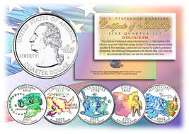 2002 US Statehood Quarters HOLOGRAM *** 5-Coin Complete Set *** w/Capsul... - $12.95