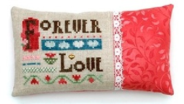 Forever Love w/embellishment cross stitch chart Heart In Hand  - $7.65