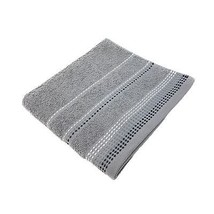 LUXURY STRIPED BRIGHT 100% COMBED COTTON SOFT ABSORBANT SILVER BATH SHEE... - $10.62