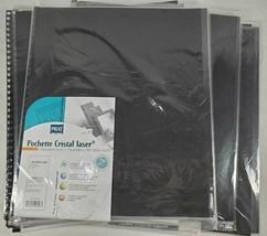 "40 PRAT Pochette Cristal Laser Sheet Protectors Sleeves; 17""x14""; 904; 3... - $95.79"
