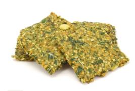 Keto snacks: Vegan Cheese Dill Kale Crackers 6oz (4 net carbs) - $25.25