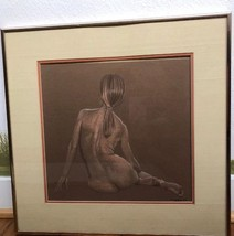 Drawing Of NUDE Female Signed By Artist 1977 - $62.06