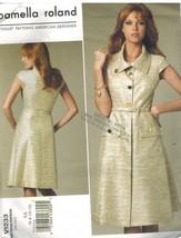 1233 Uncut Vogue-Schnittmuster Misses Kleid Gürtel Pamella Roland Enganl... - $8.98