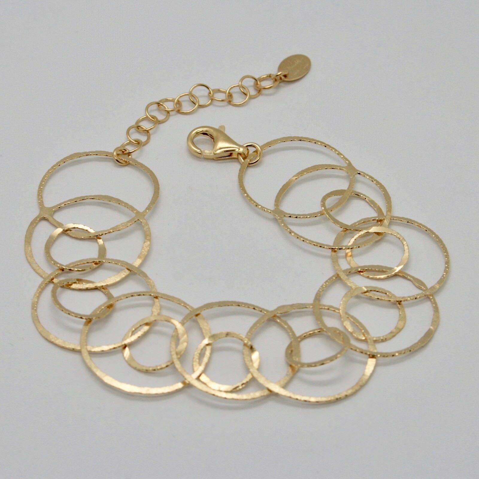 Bracelet en Argent 925 Feuille or Jantes Ngénierie By Maria Ielpo Fabriqué