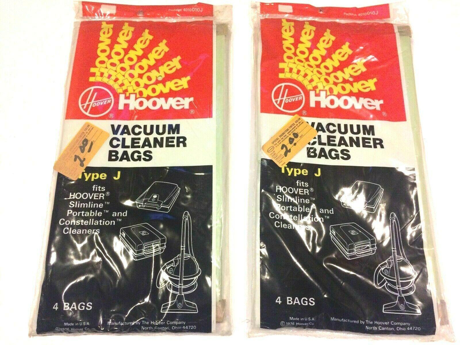 New Hoover Vacuum Cleaner Bags Type J Portable Slimline Constellation - 8 Bags