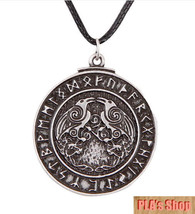 Pewter Odin Ravens Huginn & Muninn Pendant - Hot New 2017 - $14.84