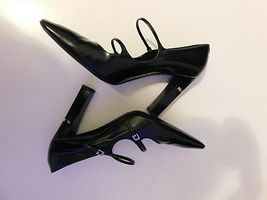 LOUIS VUITTON BLACK PUMPS SIZE 38.5 AUTHENTIC  image 6