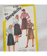Skirt Front Pleated Buttons Size 20 1/2 22 1/2 24 1/2 Simplicity 6128 Un... - $9.99