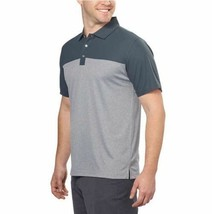 NEW Bollé Men's Colorblock Performance Polo, Dark Grey, Size L