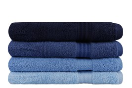 4 PIECES OF BATH TOWEL - SHADES OF BLUE - $39.99