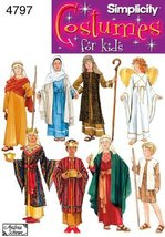 Simplicity 4797 Boys' and Girls' Nativity Costumes Sewing Pattern - Size... - $13.48