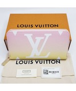 Louis VUITTON AUTHENTIC BY POOL LARGE ZIPPY WALLET  Light Pink Giant Mon... - $2,100.00