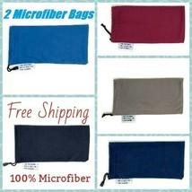 2 PCS Eyewear Eyeglass Microfiber Soft Cloth Bag Pouch Case USA FREE SHI... - $11.11