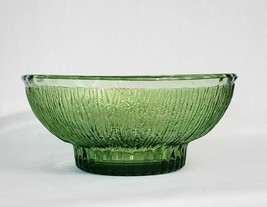 "Vintage 1975 FTD Textured Green Glass Decorative Bowl Planter 7.75"" x 3"" - $17.81"