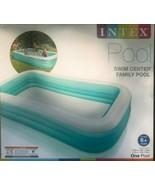 Intex 10ft x 2in Swim Center Family Backyard Inflatable Kiddie Swimming ... - $79.15