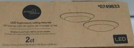 Project Source 0749833 LED Flushmount Ceiling Fixtures Brushed Nickel Pkg 2 image 2