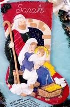 Bucilla Silent Night Manger Nativity Holiday Christmas Felt Stocking Kit 83007 - $48.95