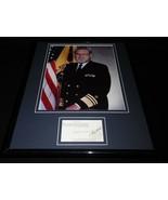 C Everett Koop Signed Framed 11x14 Business Card & Photo Display - $140.24
