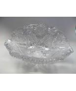 Straus ABP cut glass bowl Napoleon Hat shape American brilliant blown blank - $495.00