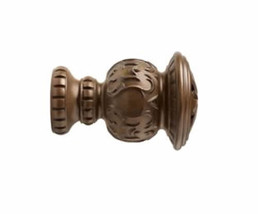 """Kirsch Wood Trends Classics Reign Finial, for 2"""" pole, Hazelnut (MPN# 46805827) - $35.62"""
