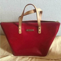 Louis Vuitton Verni Hand bag Shiny Red Zipper Women's Genuine From Japan... - $821.00