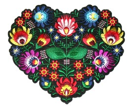 Big Heart Embroidery Sew, Iron On Patch for Clothes, Jeans Fabric Appliq... - $10.99