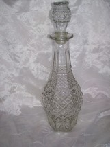 Anchor Hocking Wexford -Glass Decanter with Stopper- Diamond Point- 14.5... - $7.95