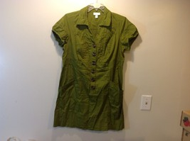 Ladies Green V-Neck Short Sleeve Casual Dress by DressBarn Sz 18W
