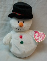 "TY Beanie Baby COOLSTON THE SNOWMAN 6"" Stuffed Animal 2007 NEW - $14.85"
