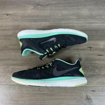 Nike Flex 2016 Womens Sneakers Size 10 Black Green Running Walking Sports - $32.75