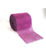 "Diamond Rhinestone Mesh Ribbon Wrap Roll Wedding Party Trim 4.5"" x 10 Ya... - $18.76"