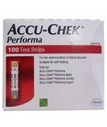 Accu-Chek Performa 100 Test Strips for Glucometer Free Shipping Expiry 2... - $19.03