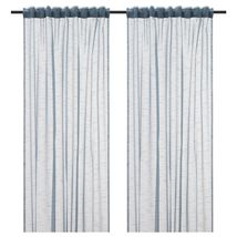 GJERTRUD Sheer curtains, 1 pair, grey-blue image 5