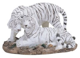 "10.25"" White Tiger Statue Figurine Safari Wildlife Wild Cat Animal Figure - $39.00"