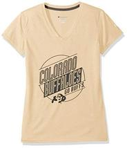 Champion NCAA Colorado Buffaloes Women's Poly+ V-Neck T-Shirt, Medium, Gold - $18.99
