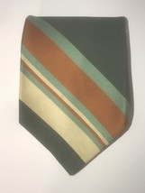 Wemlon By Wembley 100% Polyester Mens Striped Necktie For Brown Green Or... - $9.99