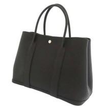 HERMES Garden Party PM Negonda Leather Black Silver Hardware Tote Bag #D... - $4,469.60