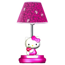 Hello Kitty Magenta Children's  Table Lamp
