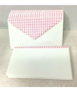 20 1970-80s Pink Gingham Mailing Envelopes Never Used   T1 - $9.41