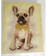 """French Bulldog Frenchie Puppy Dog Picture on Canvas Hanging 10"""" Long - $23.99"""
