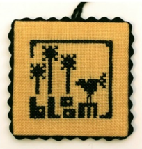 Blackout Spring cross stitch chart Heart In Hand  - $4.00
