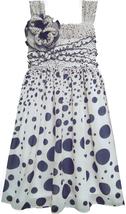 Isobella & Chloe Little Girls 2T-6X Gradient Dot Print Empire Waist Dress