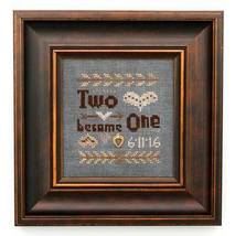 Two Become One with charm cross stitch chart Heart In Hand  - $7.65
