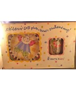 Essex Kids Children's Set Plate Bowl Mug Dinnerware Kelly Rightsell Box ... - $46.74