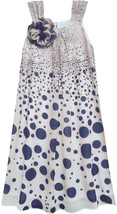 Isobella & Chloe Big Girls Tween 7-16 Navy-Blue Gradient Dot A-Line Dress