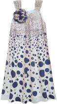 Isobella & Chloe Little Girls 2T-6X Navy-Blue Gradient Dot A-Line Dress